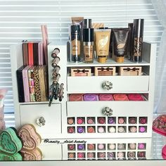 Wall Mounted Makeup Organizer by VanityClosetBeauty on Etsy https://www.etsy.com/listing/271565969/wall-mounted-makeup-organizer