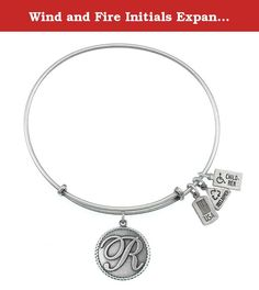 """Wind and Fire Initials Expandable Bangles (Initial 'R' Charm Bangle Silver Finish). THE MEANING OF YOUR INITIAL People with the letter """"R' in their names tend to be warm hearted individuals. These hard working people tackle jobs with unbridled enthusiasm. They are loyal friends who are even tempered, understanding, loving in nature and gentle. But beware: pushovers they are not! Wind & Fire Jewelry elevates the art of eco-sustainable jewelry to new heights. Our core values are established…"""