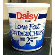 Daisies cottage cheese ingredients: cultured skim milk, cream, salt, Vitamin A palmate. The only one left in the regular grocery stores that doesn't have a bunch of chemicals such as carrageenan.