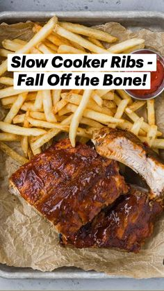 Meat Recipes, Slow Cooker Recipes, Seafood Recipes, Crockpot Recipes, Cooking Recipes, Baby Back Pork Ribs, Slow Cooker Ribs, Salad With Sweet Potato