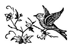 Free Bird and Flower Vintage Clip art