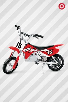 Keep young thrill seekers on the go with this Razor MX400 Electric Dirt Bike. It features a rechargeable battery, wrist-controlled acceleration and hand-operated brakes. It's the kind of gift they'll never forget.