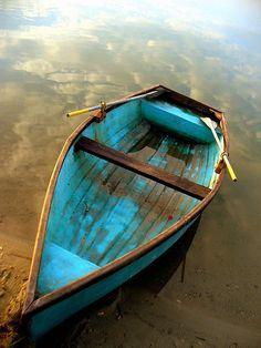 Blauwe boot