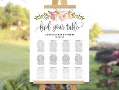 Hey, I found this really awesome Etsy listing at https://www.etsy.com/uk/listing/535638903/rustic-floral-wedding-seating-chart