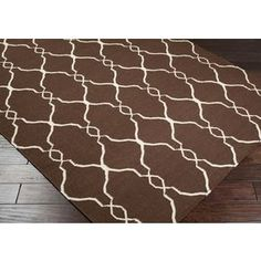 Fallon Chocolate Transitional 5x8 Area Rug $340.  By Surya available at JustCabinets.com.