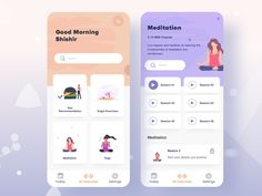 Daily Exercises Course - Freebie by Shahidul Islam Shishir ✪ Hello Awesome Designers! Here is my latest Exercises app design concept. This work is free for you. Press L to like and don't forget to see a Larger view. Enjoy this design Free. Mobile App Design, App Ui Design, Mobile Ui, Interface Design, Best App Design, Design Design, Design Layouts, Flat Design, Brochure Design