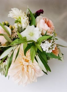 lovely soft colors perfect for a spring or summer wedding. from style me pretty.