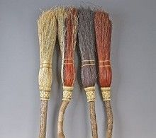 Beautifully handmade hearth brooms and besoms, small and large, are functional and decorative as well as being a blessing to your home.
