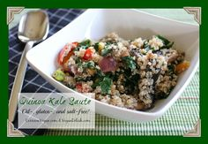 Need a hearty dish on a cold winter's night? Try this Quinoa Kale Saute that is oil-free, low-sodium, and #vegan!