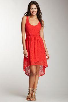 Lace Hi-Lo Dress