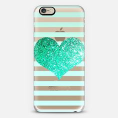 GLITTER LOVE HEART IN TEAL