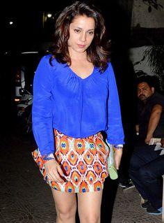 Neelam Kothari Soni at Sohail Khan's bash. #Bollywood #Fashion #Style #Beauty