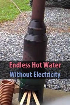 Engineer775 has an ingenious setup where he can easily heat up water without using any electricity. Watch the video to see what I mean.