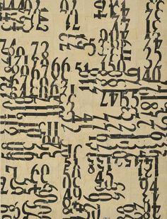 Number Composition, N/D by Jiří Kolář (Czech, 1914 - 2002) #pattern #texture #textile