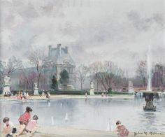 Jules-René Hervé - Enfants à la fontaine