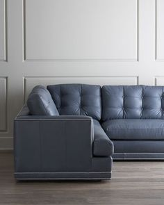 "Old Hickory Tannery ""Fenway"" Tufted Leather Sofa - Neiman Marcus"
