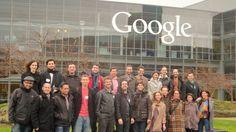 Los ganadores territoriales de la categoría emprendesXXI, en la sede de Google en Mountain View (California).  // Els guanyadors territorials de la categoria emprensXXI, a la seu de Google a Mountain View (Califòrnia).