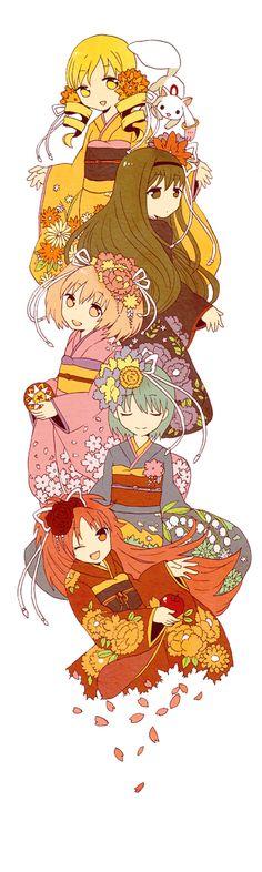 Puella Magi in Kimono