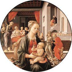 Tondo Bartolini, Fra Filippo Lippi, 1452-1453, tempera su tavola, galleria palatina (Firenze).