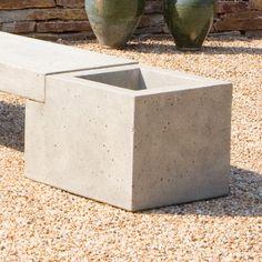 Campania International Modular End Cast Stone Planter - Garden Planters at Hayneedle Stone Planters, Cement Planters, Outdoor Planters, Garden Planters, Concrete Bench, Concrete Furniture, Concrete Art, Garden Furniture, Concrete Crafts
