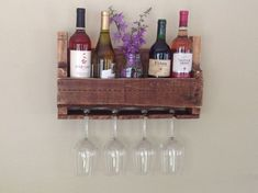 wine and glass rack Wood, Distressed, Wood Pallets, Wine Bottle Rack, Wine Bottle, Wine Glass Holder, Home Decor, Bottle Rack, Glass Holders