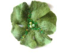 Felt wool shamrock pin brooch green Easter St. Patrick's day emerald apple olive lime on Etsy, $11.90