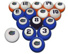 Florida Gators Pool Balls