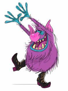 """Concept art of a troll by Bill Schwab from Disney's """"Frozen"""" (2013)."""