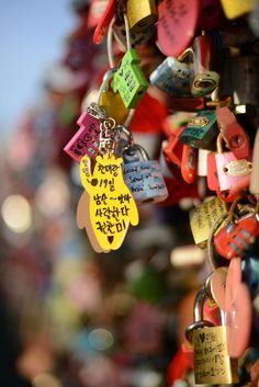 """""""Love Locks"""" Namsan Tower, Seoul"""
