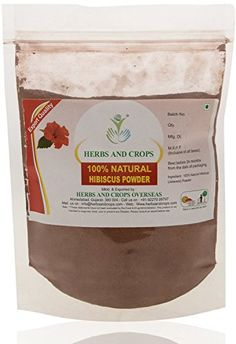 Herbs And Crops 100% Pure Natural Organically Grown Hibiscus Powder (227g / (1/2 lb) / 8 ounces) *** For more information, visit http://www.amazon.com/gp/product/B01BKIBZD6/?tag=passion4fashion003e-20&mn=050816000311