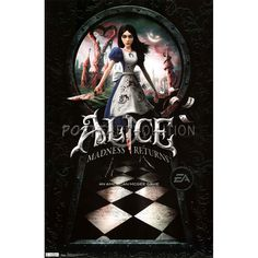 American McGee's Alice: The Madness Returns: Poster Alice Madness, Alice In Wonderland, Nye, Darth Vader, Games, American, Cover, Movie Posters, Painting