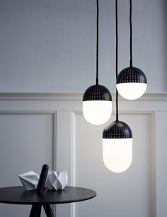 Love the detail of this light! The Dot Pendant by Woud
