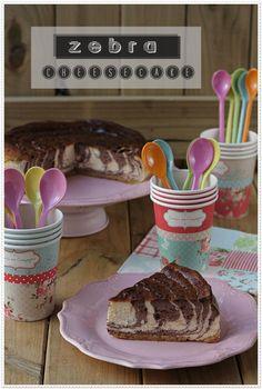 Zebra cheesecake #recetas