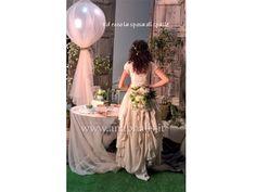#abito da #sposa#country, con corpetto ad uncinetto ,e coda drappeggiata in puro lino. anaphalis by Luz Molina