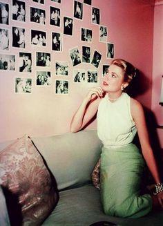 Grace Kelly durante el rodaje ...