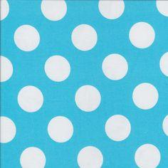 Dots - Aqua - Stenzo Poplin