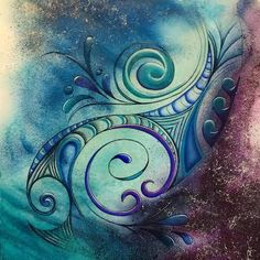 new zealand art water - Bing images Acrylic Pouring Art, Acrylic Art, New Zealand Art, Nz Art, Maori Art, Kiwiana, Art Journal Pages, Flower Art, Watercolor Art