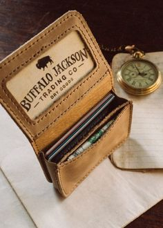 Washed Whiskey Satchel Wallet