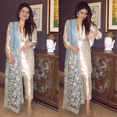 Buy online most fashionable latest Pakistani dresses Latest Pakistani Dresses, Pakistani Wedding Outfits, Pakistani Dress Design, Latest Pakistani Fashion, Indian Attire, Indian Outfits, Indian Designer Outfits, Designer Dresses, Stylish Dresses