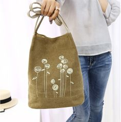 Bucket shape tote bag made with canvas available in 5 colors. We offer free and fast worldwide shipping for all orders. Order your favorite color now. Navy Tote Bags, Embroidery Bags, Tote Bags Handmade, Canvas Handbags, Jute Bags, Fabric Bags, Casual Bags, Black Handbags, Bag Making