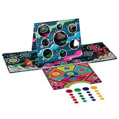 Gifts for 5 year olds under £5 |  Kids activities | Kids present ideas | Old-fashioned fun goes space age with Ridley's tiddlywinks! This is tiddlywinks, but not as we know it. Packed in a cool retro designed box with magnetic closure that folds out to form the game board with full instructions and all the pieces you need to score high. Suitable from  3+ years