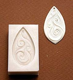 Chase Creative molds : Pendant A PMC & Polymer clay mold