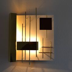 """Set of Four Wall Light """"Quadri Luminosi,"""" Model 575 by Gio Ponti 