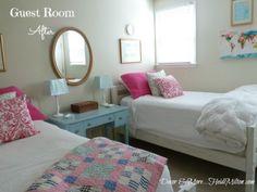 Guest bedroom reveal, bedroom refresh, brights, lots of light
