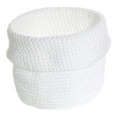 Kaunista kotiin - Säilytyspussukka valkoinen, eri kokoja - Hyvän Tuulen Puoti, joku tälläinen kori olis kiva, valkoinen tai musta :) koko joku + 20 cm halkasija :)