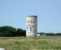Coors Silo Along I-35 near Emporia Lyon Co - KS