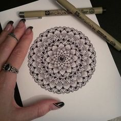 "779 Likes, 8 Comments - Sandra ♡ (@sandraws_to_relax) on Instagram: ""~Work in progress~✍ The start of a new A5mandala drawing ♡ • • • • #mandala #mandalaart…"""