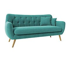 Beautiful Sofa and the color Furniture Upholstery, Diy Furniture, Retro Home Decor, Diy Home Decor, Bleu Celadon, Turquoise Sofa, Muebles Shabby Chic, Cool Couches, Beautiful Sofas