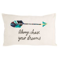 4d39cc191c19 Chase Your Dreams Pillow Cover Map Globe