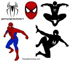Spider-Man Logo Symbol and Silhouette Vectors Silhouette Cameo Free, Silhouette Images, Silhouette Vector, Silhouette Portrait, Spiderman Images, Spiderman Cupcake Toppers, Drawing Software, Man Vector, Image Svg
